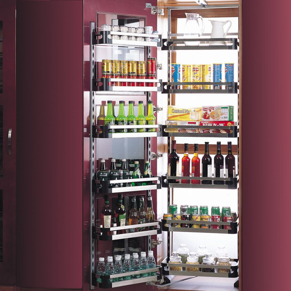 open out pantry adjustable height 1650 1950mm 600mm