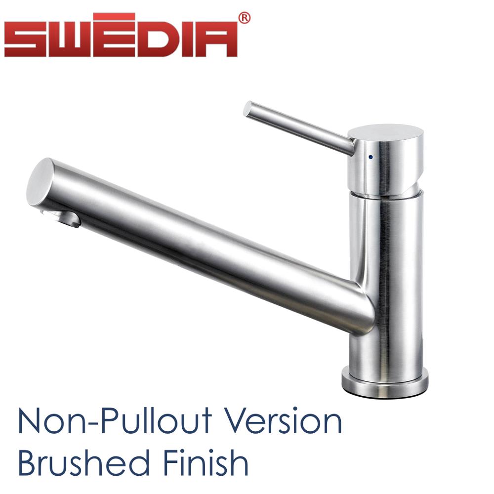 oskar stainless steel kitchen sink mixer with optional