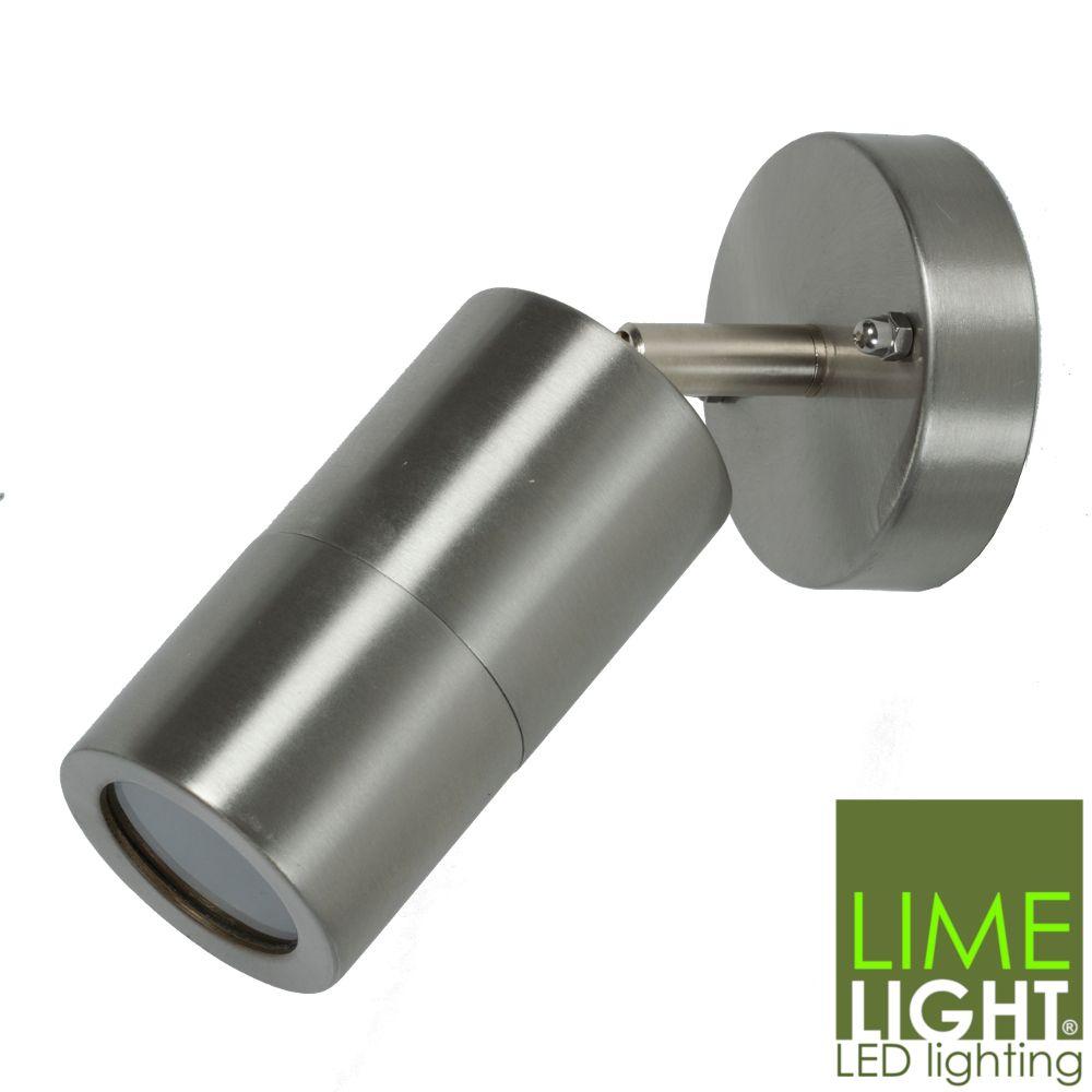Outdoor Adjustable LED Compatible Spot Light Stainless Steel 240V GU10
