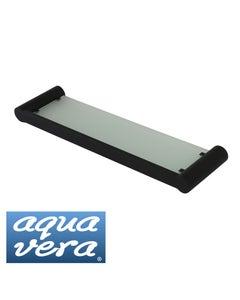 Pearl black glass shelf - stainless steel latest designer bathware