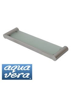 Pearl polished Glass bathroom shelf - stainless steel latest designer bathware
