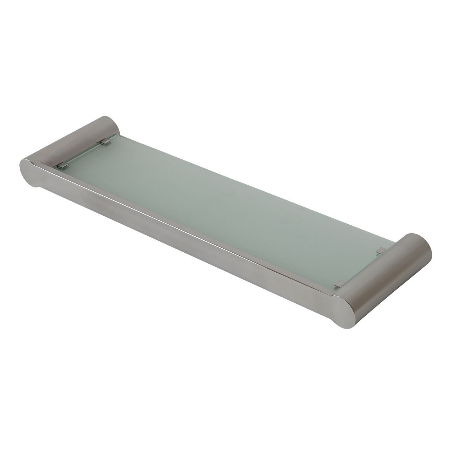 Pearl Glass Shelf with Stainless Steel Frame