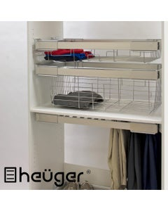 pull out wardrobe basket 150mm