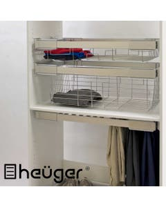 pull out wardrobe basket deep 150mm