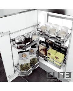open out cupboard low profile kitchen storage