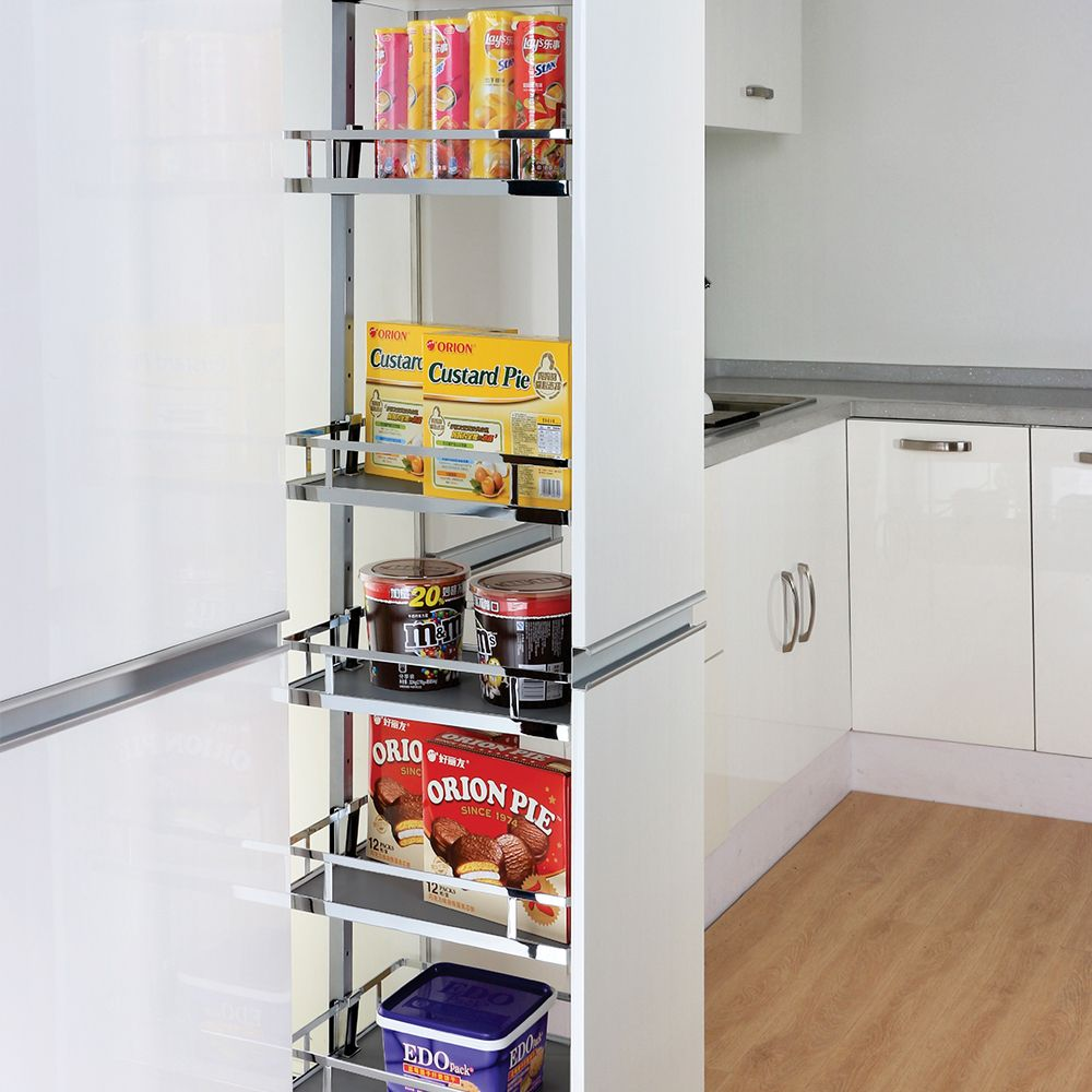 Pull Out Pantry Soft Close Unit Adjustable Height For 400mm Or 450mm Cupboard Ebay