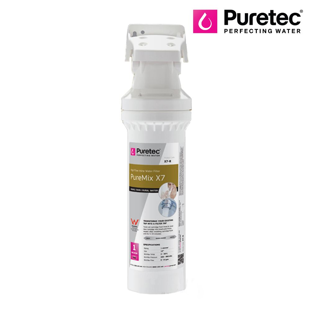 Puretec Puremix X7 - High Flow in-line - 4 Stage Water Filtration System