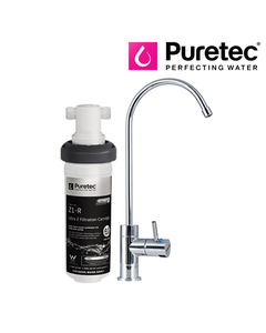 Puretec Z18 Undersink Water Filter with Goose Neck LED Faucet
