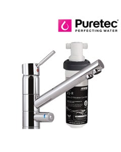 Puretec Tripla - T1 Three-Way LED Mixer Tap with Undersink Filter - Single Lever
