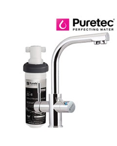 Puretec Z1 Tripla - T3 Three-Way LED Mixer Tap with Undersink Filter - Dual Lever
