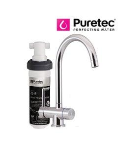 Puretec Z1 Tripla - T4 Three-Way Kitchen LED Mixer Tap with Undersink Filter - Goose Neck