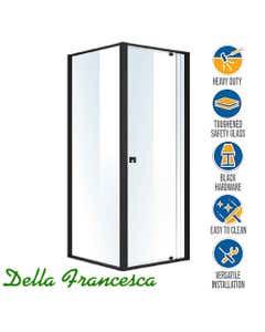 semi frameless glass shower screen square shape