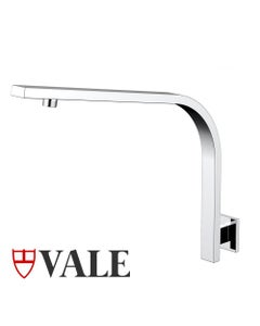 High Curved Shower Arm - Wall-Mounted