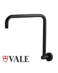 Vale goose neck shower arm - matte black