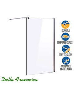 single panel safety glass shower divider screen