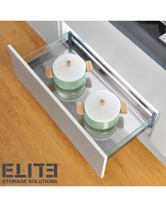 spacious 900mm glass drawers for kitchen counters