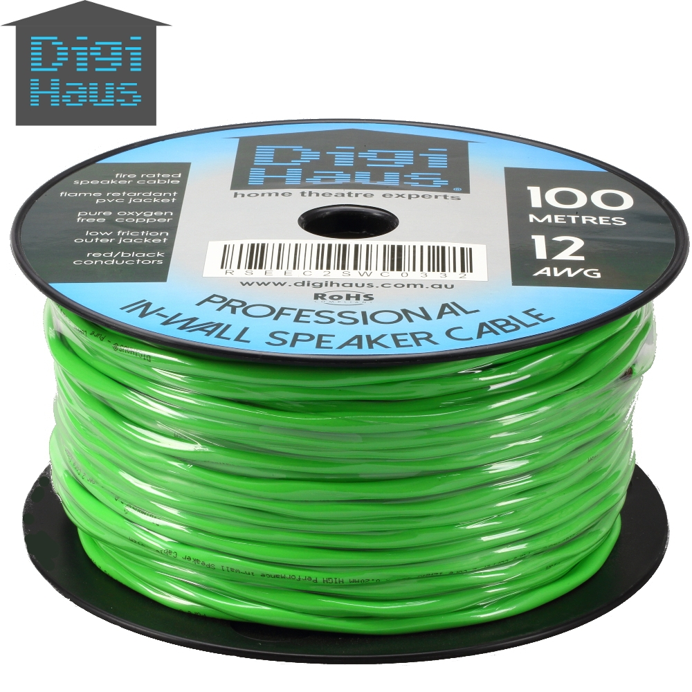 100m 12awg Premium Speaker Cable Wire Roll Pure Ofc Fire Rated In Wiring Through Walls And Ceilings This Professional Grade 12 Awg Gauge Copper Is Designed Specifically For Wall Ceiling Installation