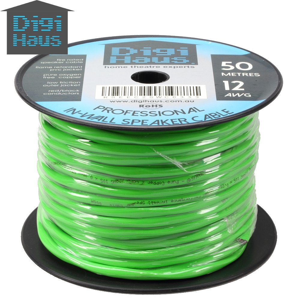 In Wall Speaker Wire : M awg speaker cable for in wall installation fire rated