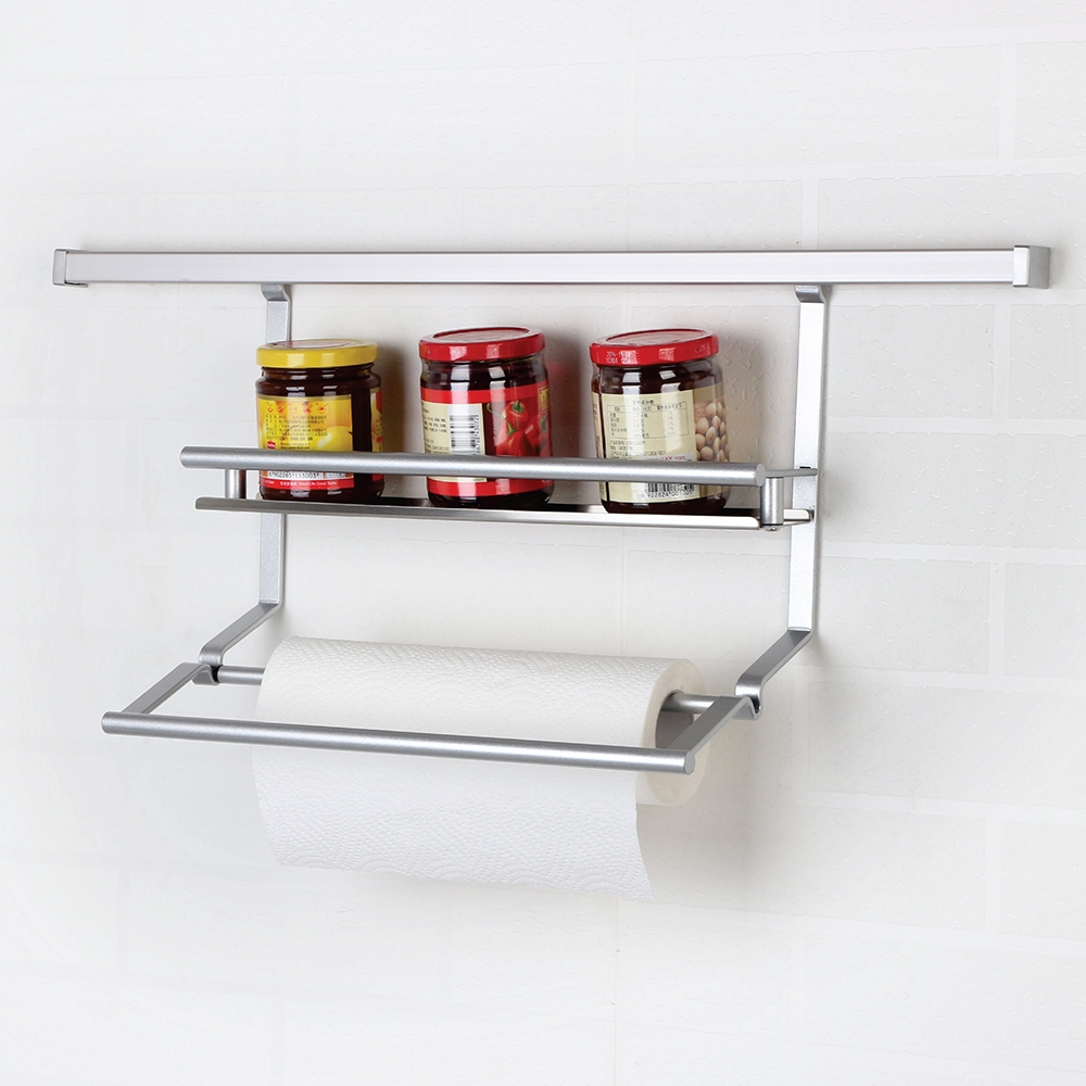 Kitchen Wall Storage Spice Condiments Rack and Paper