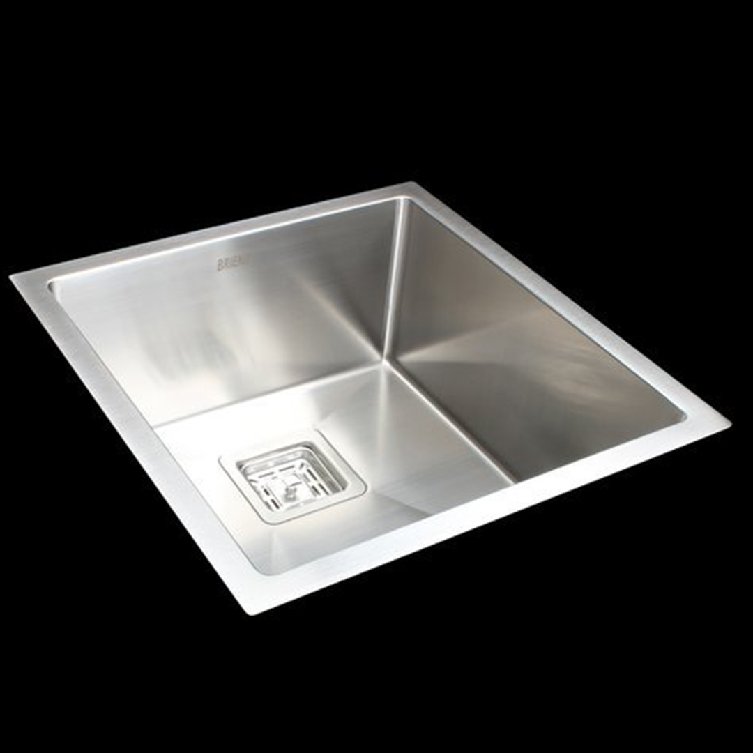 Handmade 1.5mm Stainless Steel Kitchen Sink with Square Waste - 430x455mm