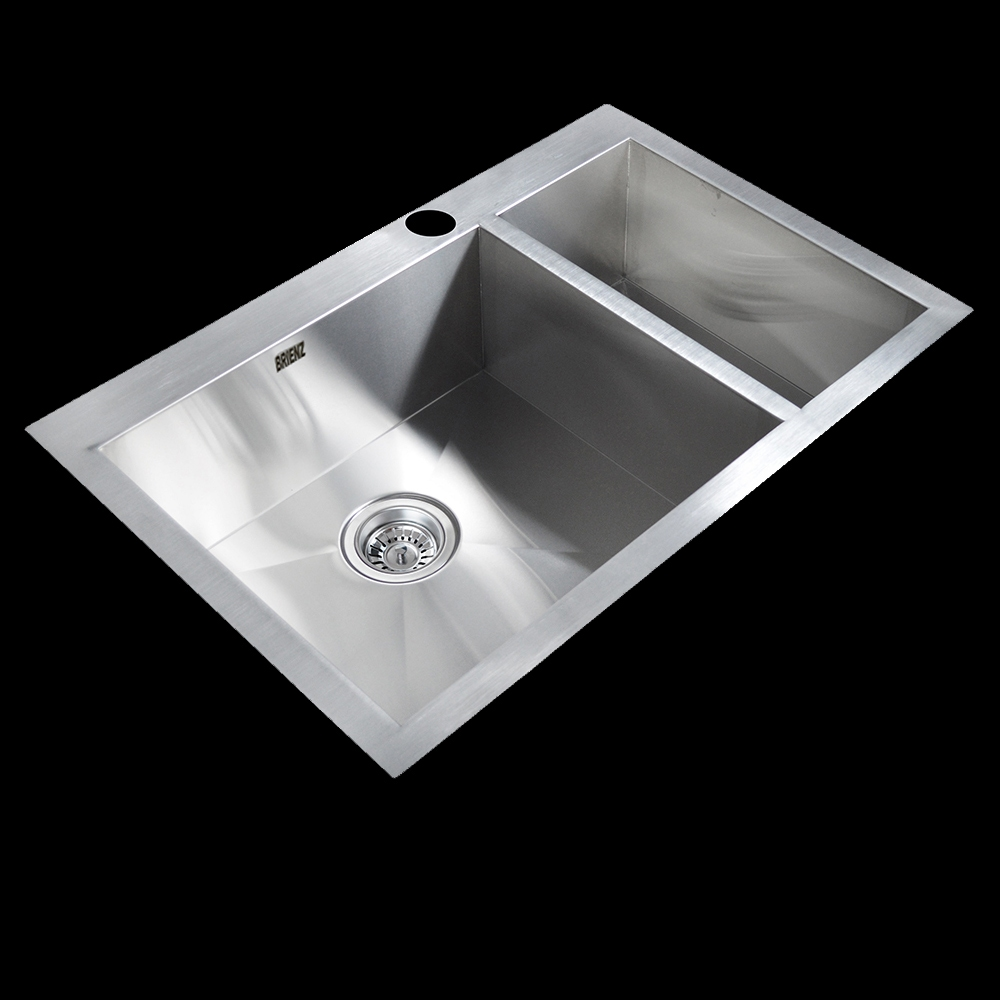 Stainless Steel Kitchen Sink - Double Bowl 70:30 - Square Corners - Top Mount