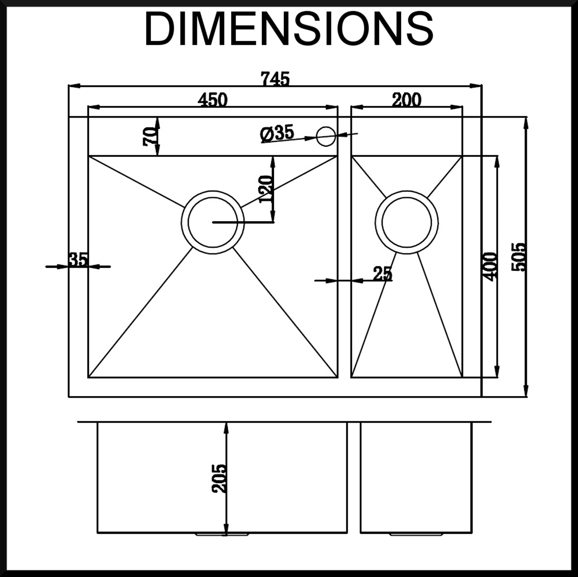 Stainless Steel Sink Dimensions : stainless-steel-kitchen-sink-dimensions