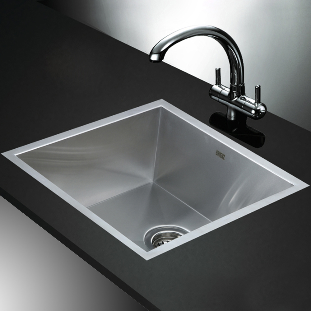 Top Stainless Steel Sinks : Stainless Steel Kitchen Sink - Single Bowl Square Corners - Under/Top ...