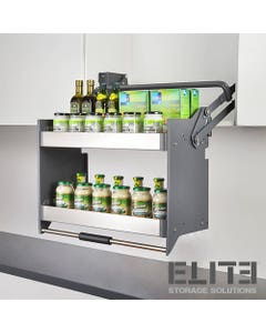 accessible extra storage shelves for kitchen cabinets