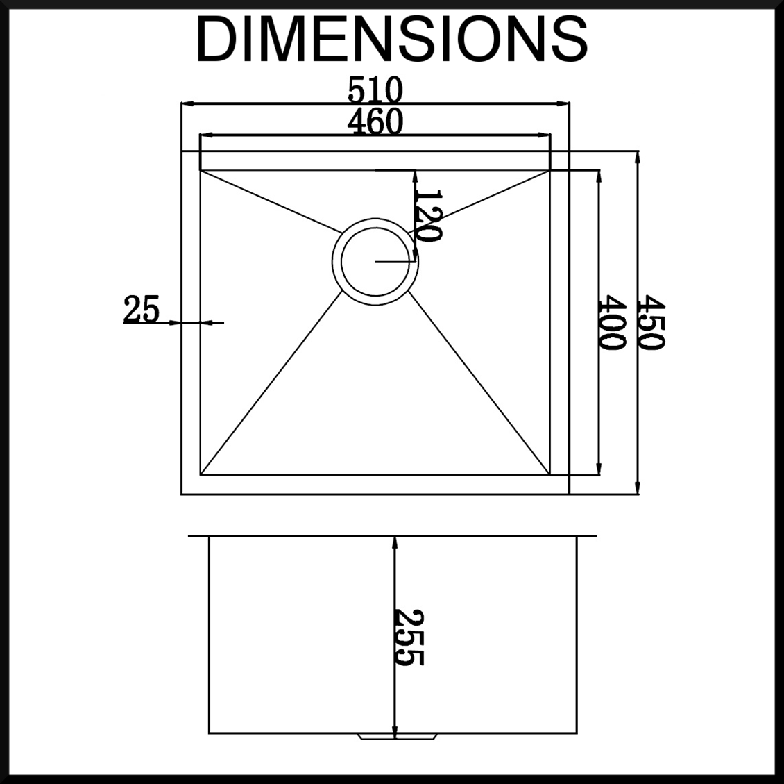 Stainless Steel Sink Dimensions : Stainless steel kitchen sink dimensions