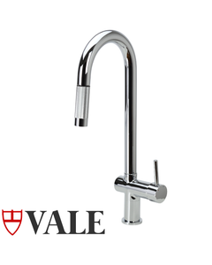 Goose Neck Kitchen Faucet with Pull Out Spray