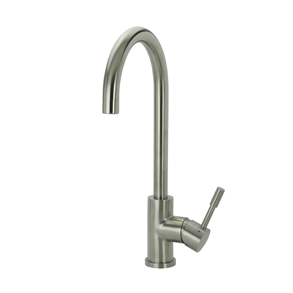 Klaas - Stainless Steel Kitchen Mixer Tap - Brushed - Optional Pull-Out
