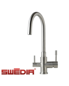 Otto - Stainless Steel Kitchen Mixer Tap with Filtered Water Outlet - Brushed