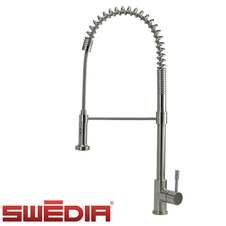 Swedia Prima - Stainless Steel Kitchen Mixer Tap - Brushed - Dual Flow