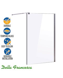 tempered glass shower screen 1100mm wide