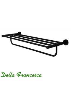 black towel rack shelf drying rail