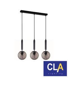 sphere glass black pendant lights