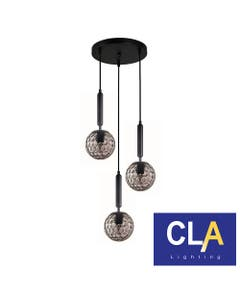 3 small round pendant lights