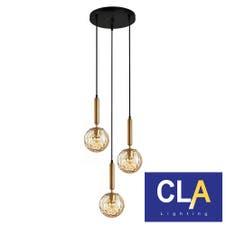 sphere glass bronze pendant lights
