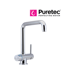 Puretec Tripla T5 Three Way LED Tap - Kitchen LED Mixer - Angled Neck