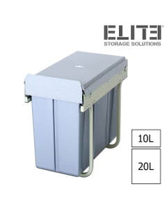 ELITE Twin Pull Out Concealed Waste Bin - 300mm Cabinet
