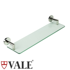 vale symphony tempered glass shelf with stainless steel bars