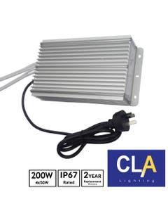 waterproof LED driver transformer 4 x 50W