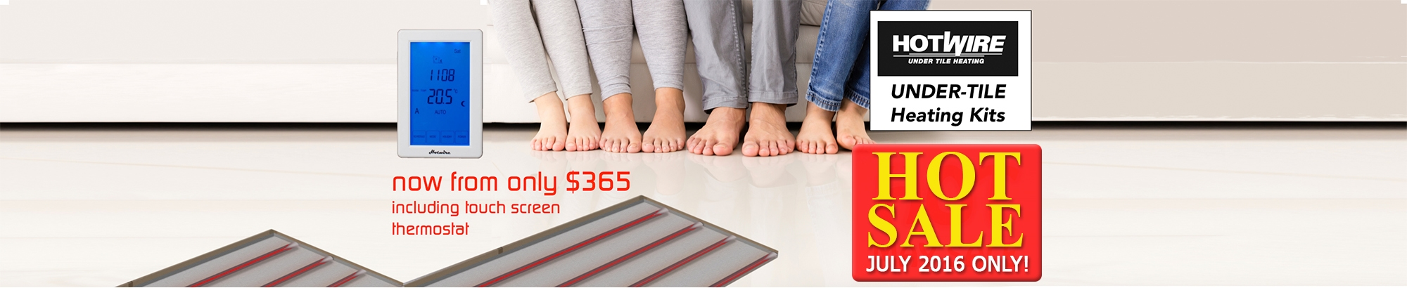 15% OFF Hotwire Under-Tile Heating Kit