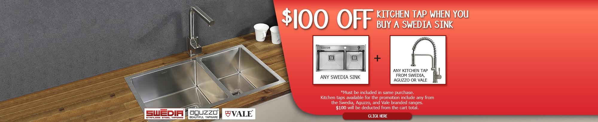 Swedia Tap + Sink August Sale