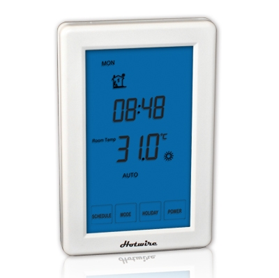 hotwire touch xcreen thermostat for heated towel rail