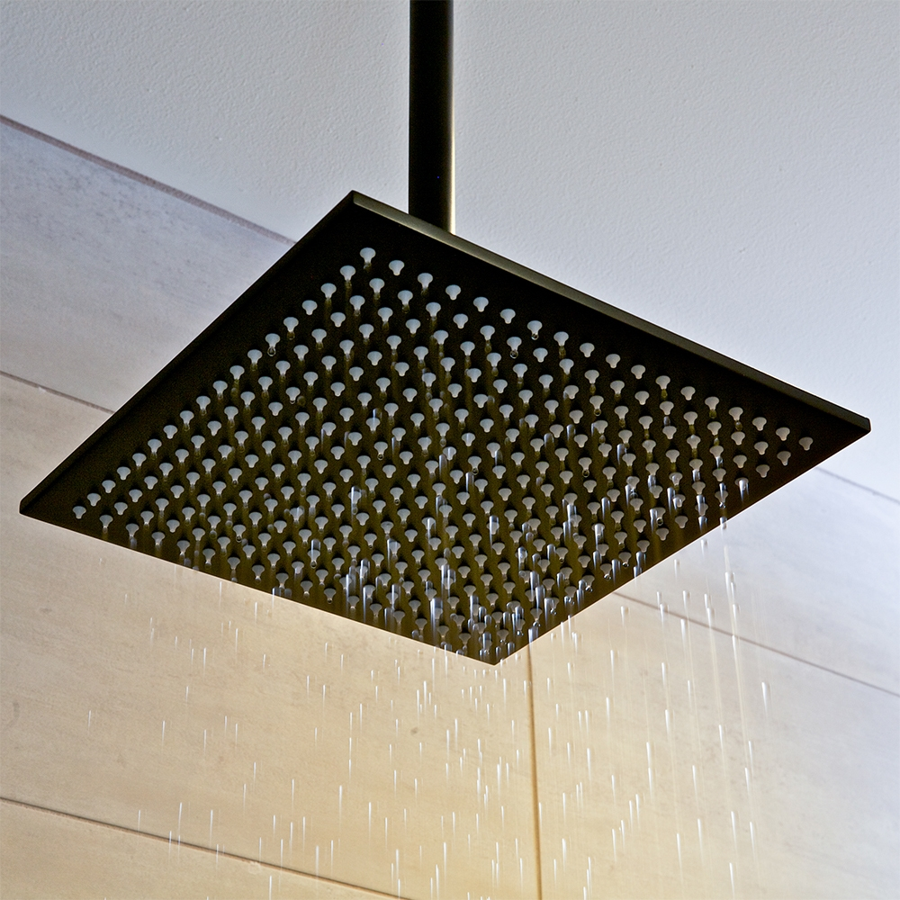 black rain shower head