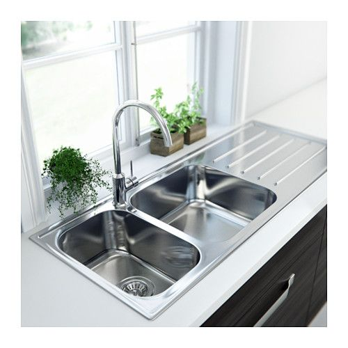 top mount kitchen sink with drainer double bowl