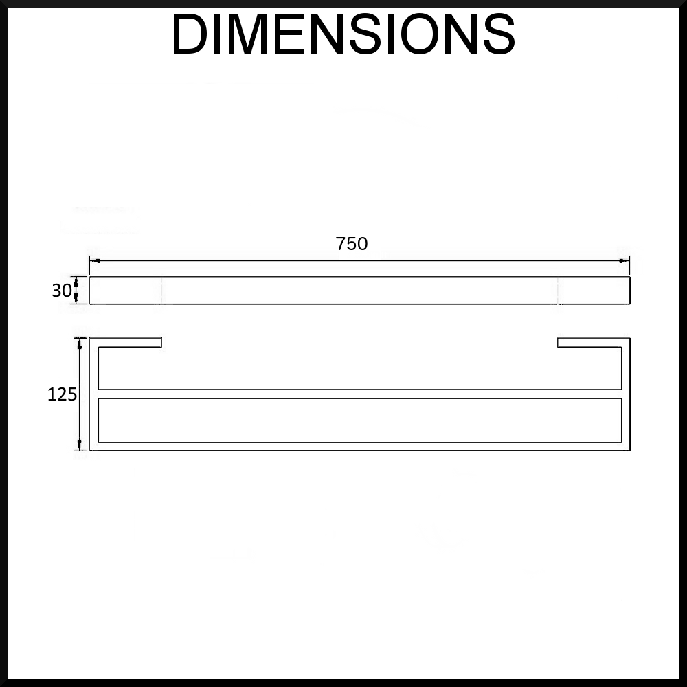 Dimensions-diagram-montangna-750-double-towel-rail