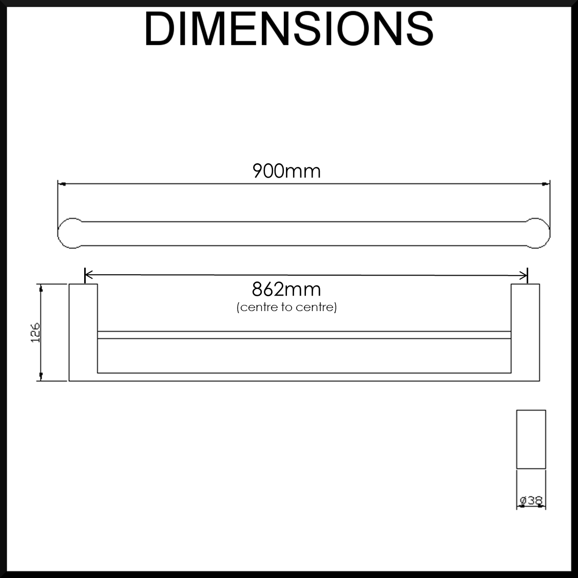900mm-Double-Towel-Rail-Dimensions