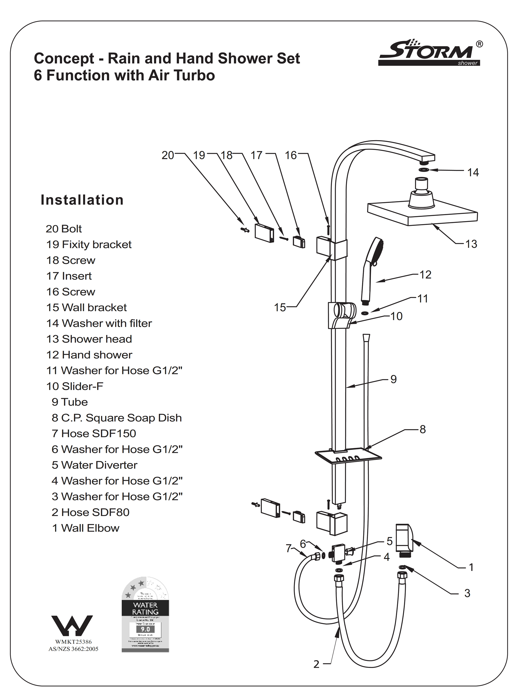 Installing a twin rail shower set